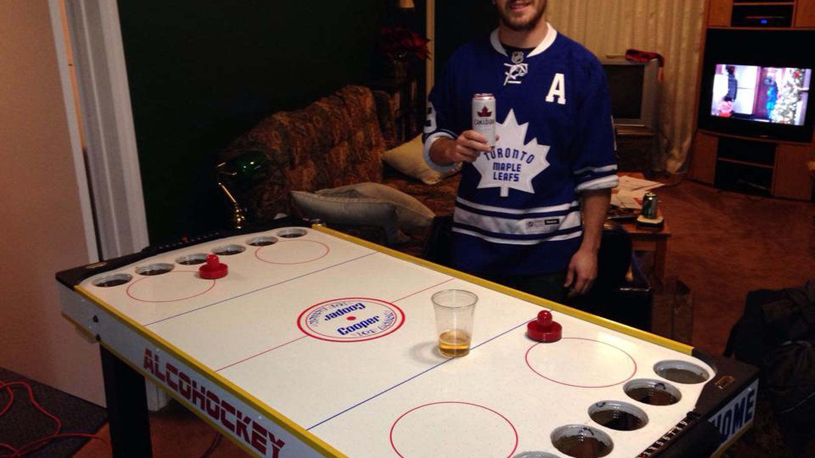 Hockey beer pong table - Hockey Beer Pong Table 46