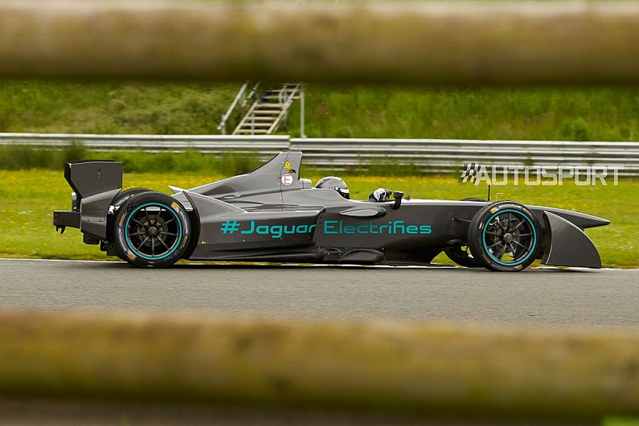Jaguar's Formula E car makes its first appearance in the wild