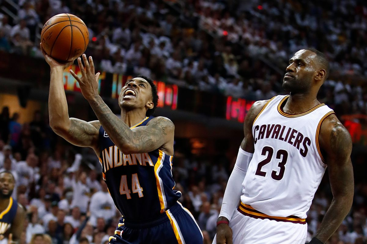 National Basketball Association roundup: Cavs hang on to defeat Pacers in Game 1