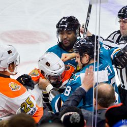 Tensions were high during several parts of the game