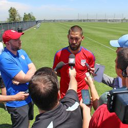 Clint Dempsey was the man of the day today.