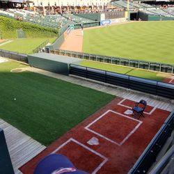 Bullpens (visitors at left, home at right)