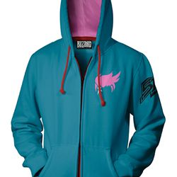 Zarya's hoodie has her iconic haircut as its signature element.