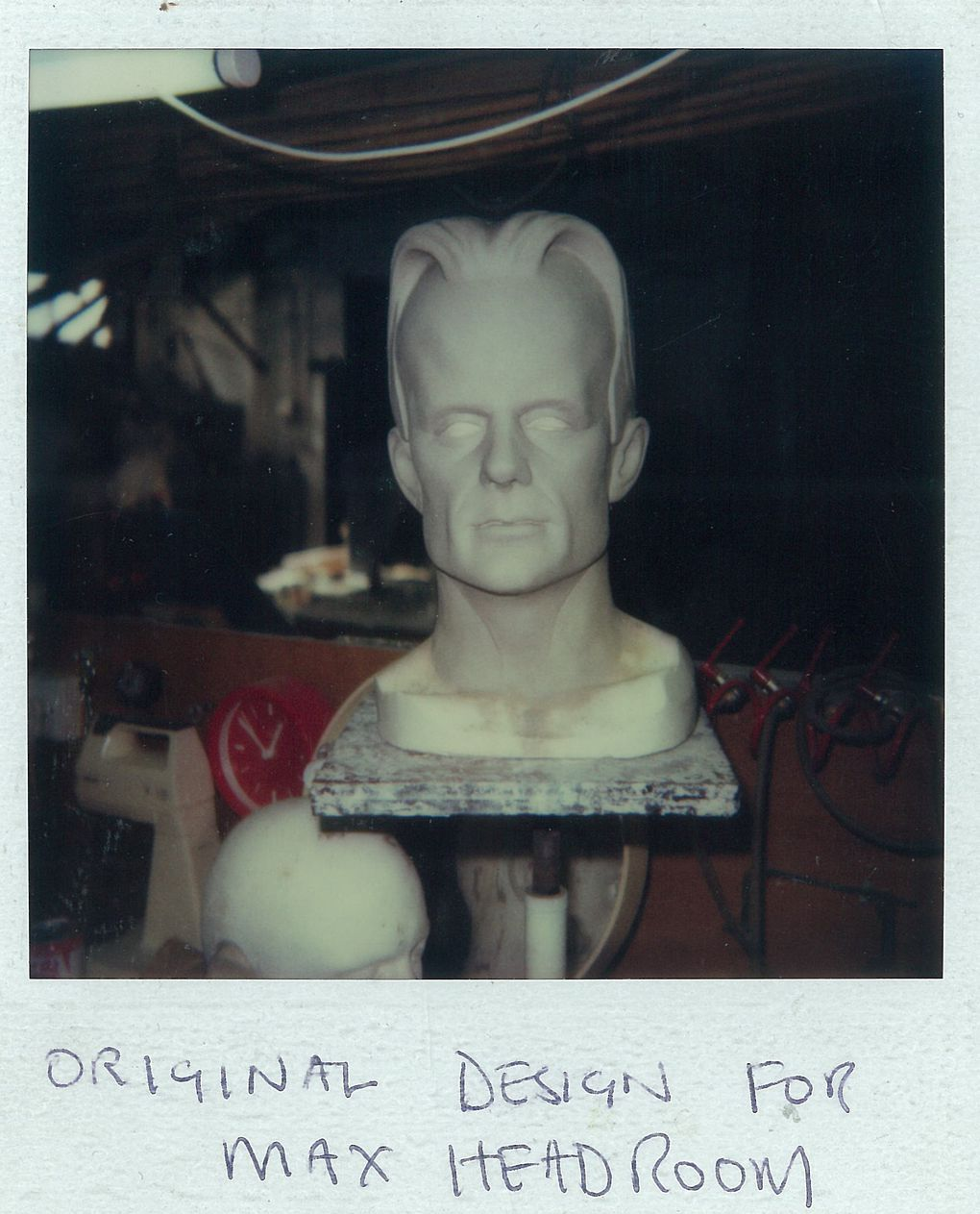 photo essay how make up and visual effects brought max headroom the refined design hews closely to matt frewer s features but sports a slightly different hairstyle image courtesy of john humphreys