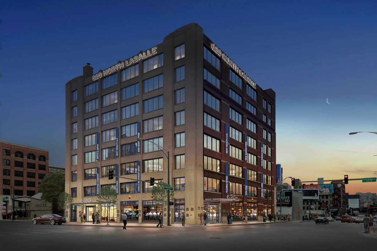 redevelopment plan for river north s vacant sports authority image courtesy of next realty empty since sports authority