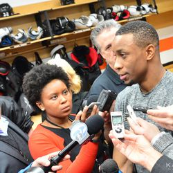 Simmonds happy to talk to the press after tonight's win