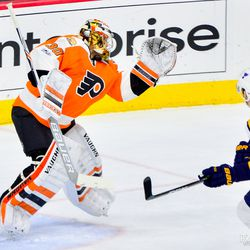 Neuvirth with some hang time