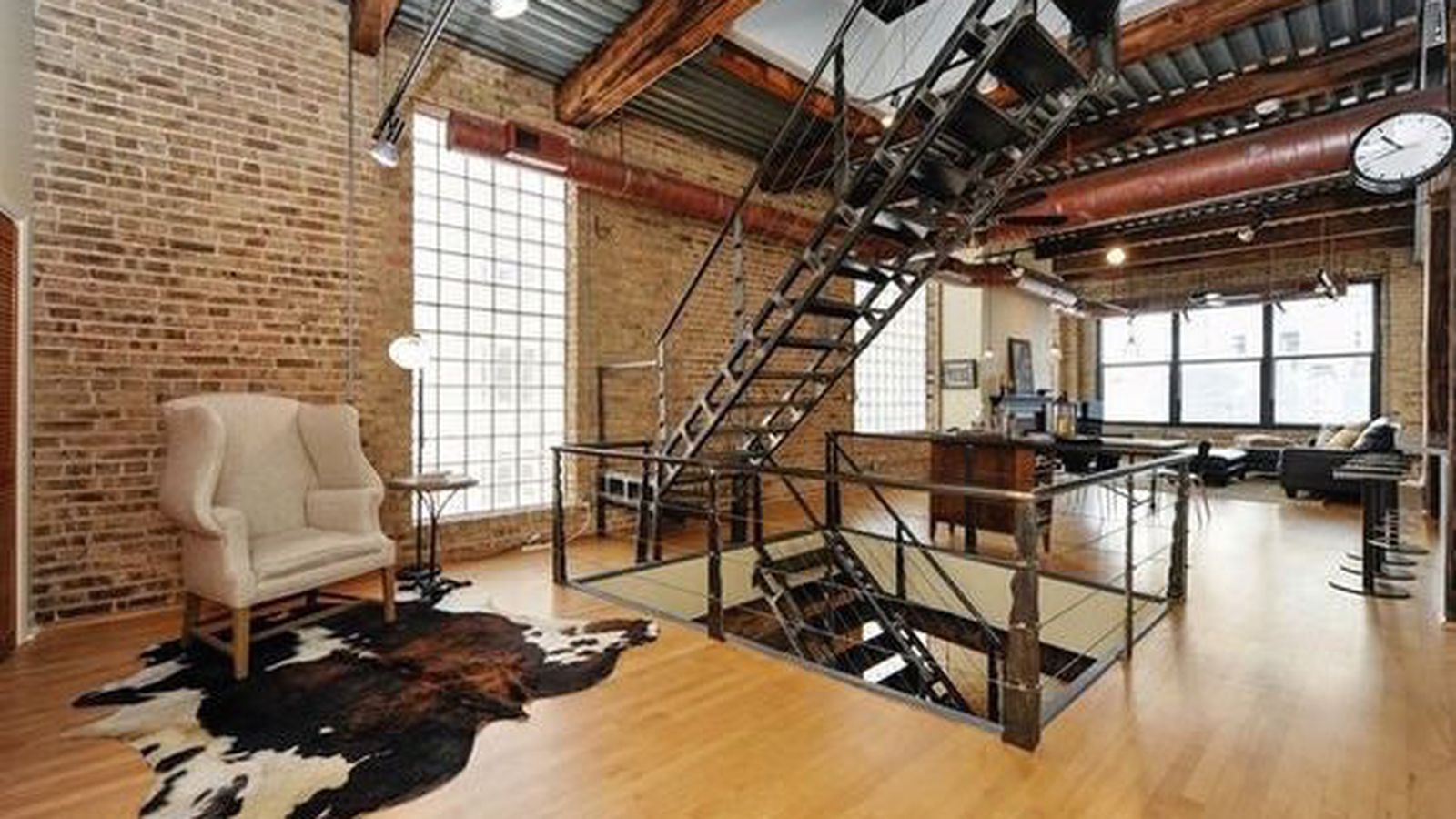 Two Level West Loop Industrial Loft Can Be Had For 699k