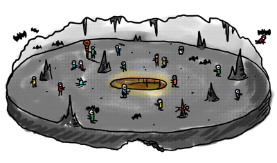 Cave of the Blind illustration