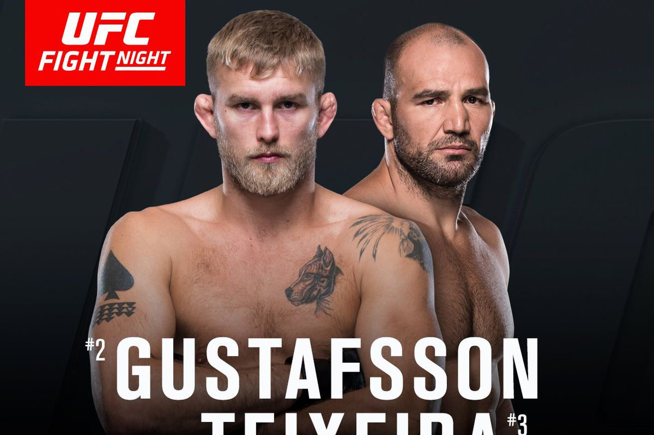 Latest UFC Fight Night 109 fight card, rumors, and updates for 'Gustafsson vs Teixeira' on May 28 in Stockholm, Sweden