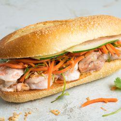 Num Pang's coconut tiger shrimp sandwich
