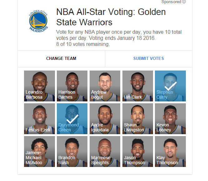 Image result for nba votes