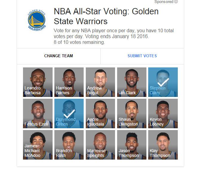 Image result for nba votes
