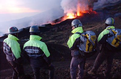 Mount Etna Erupts In Southern Italy