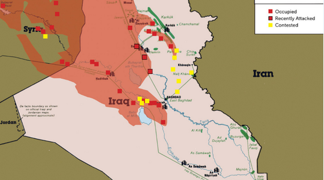 This map shows how violence in Iraq could threaten the oil supply – Map of Iraqi Oil Fields