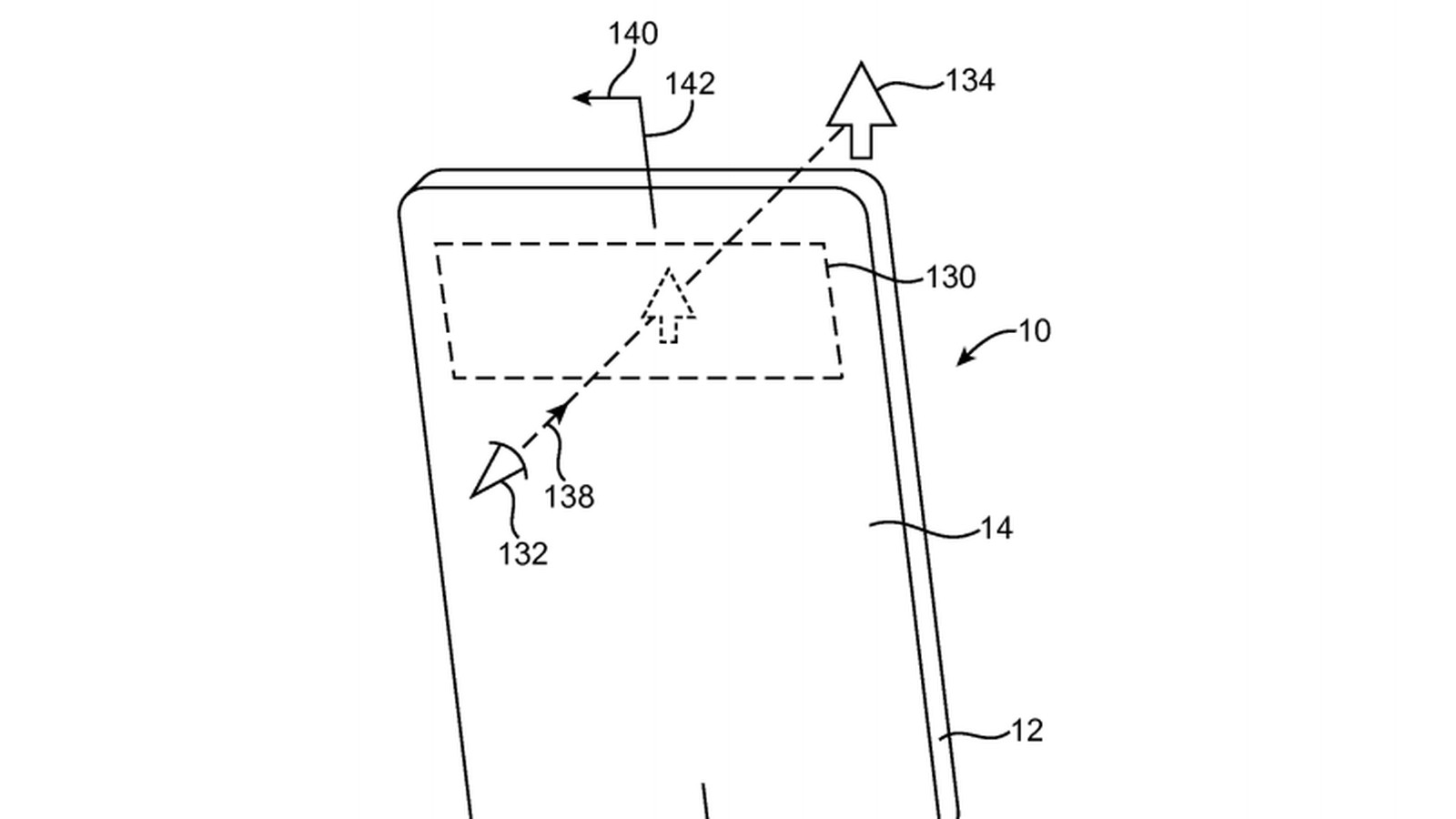 apple patented a screen with holes for a bezel-less  translucent phone