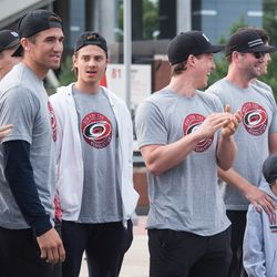 Is that a smile from Victor Rask? September 10, 2017. Canes 5k benefitting the Carolina Hurricanes Kids 'N Community Foundation, PNC Arena, Raleigh, NC