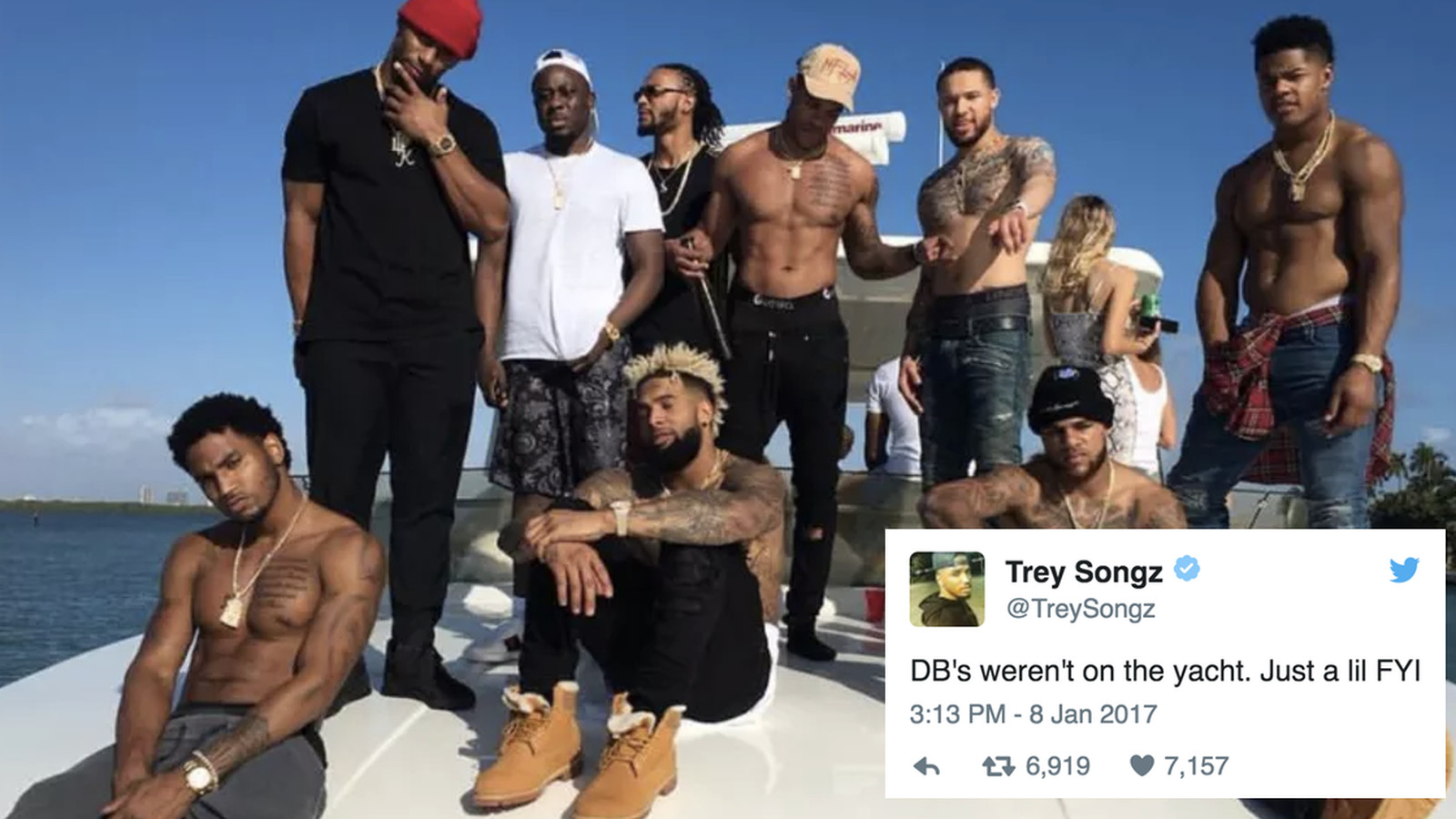 Trey Songz Defends The Giants Boat Trip While Throwing