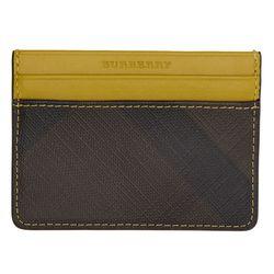 "Burberry<a href=""https://www.ssense.com/en-us/men/product/burberry/yellow-sandon-card-holder/1795813"">Yellow Sandon Card Holder</a>, $93"