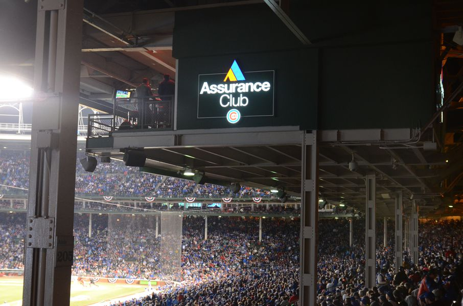 the 39 new 39 wrigley field video boards yes restrooms no bleed cubbie blue. Black Bedroom Furniture Sets. Home Design Ideas
