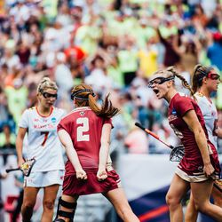 Sam Apuzzo and Dempsey Arsenault celebrate BC's final goal