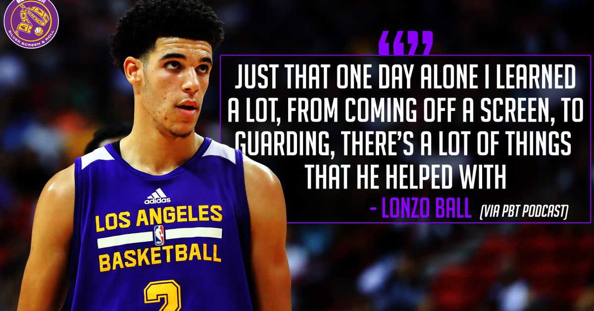 La Lakers Lonzo Ball Stats >> Lakers News: Lonzo Ball details what Steve Nash taught him during their training session ...