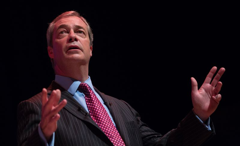 Nigel Farage Addresses The Paris Terror Attacks At A 'Say No To Europe' Meeting