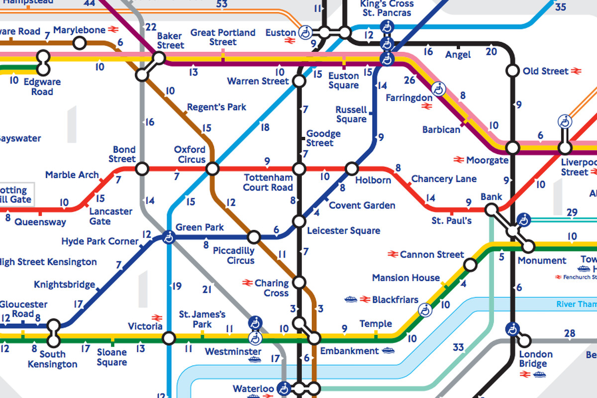 Londons walk the Tube map reveals the real distance between – Real London Underground Map