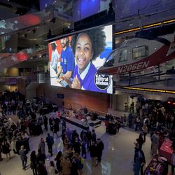 About 1,000 attendees filled four of the six Newseum floors.