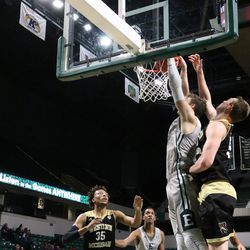 Baylee Steele lets down a dunk.