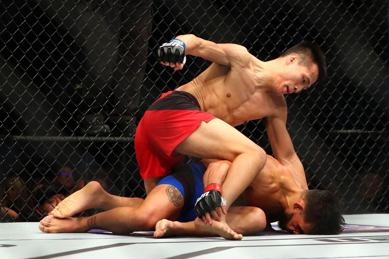 Knockout! Watch 'Korean Zombie' finish Dennis Bermudez in epic return at UFC Fight Night 104