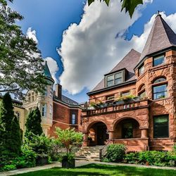 A Romanesque revival house in Chicago.