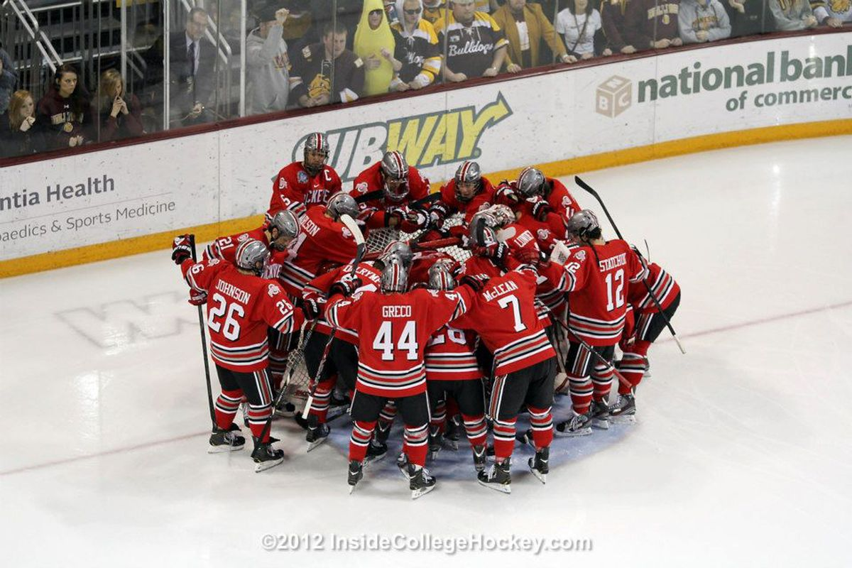 Hockey Badgers end season in Big Ten title game