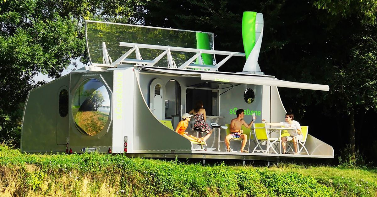 High Tech Camper Unfolds To Reveal A 2 Bedroom Tiny House