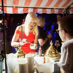 Lotta Malm-Hallqvist (MDC Partners - Europe) enjoys the Eater gelato cart.