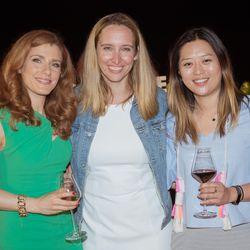 From left, Julia Boorstin (CNBC), Jen Brown (NBCU), Sally Shin (CNBC)