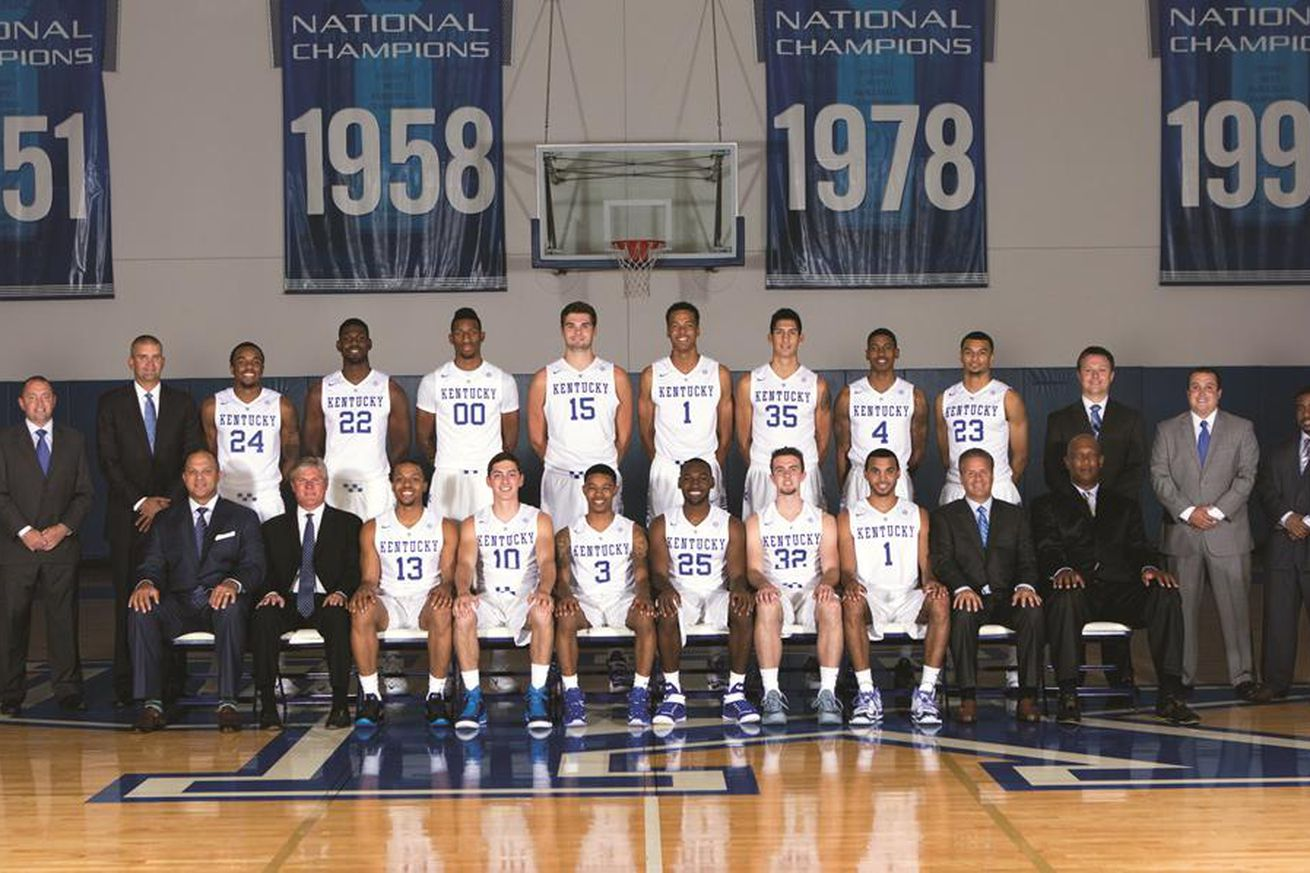 Uk Wildcats Basketball: Kentucky Wildcats Basketball Team Photo For 2015-16 Squad