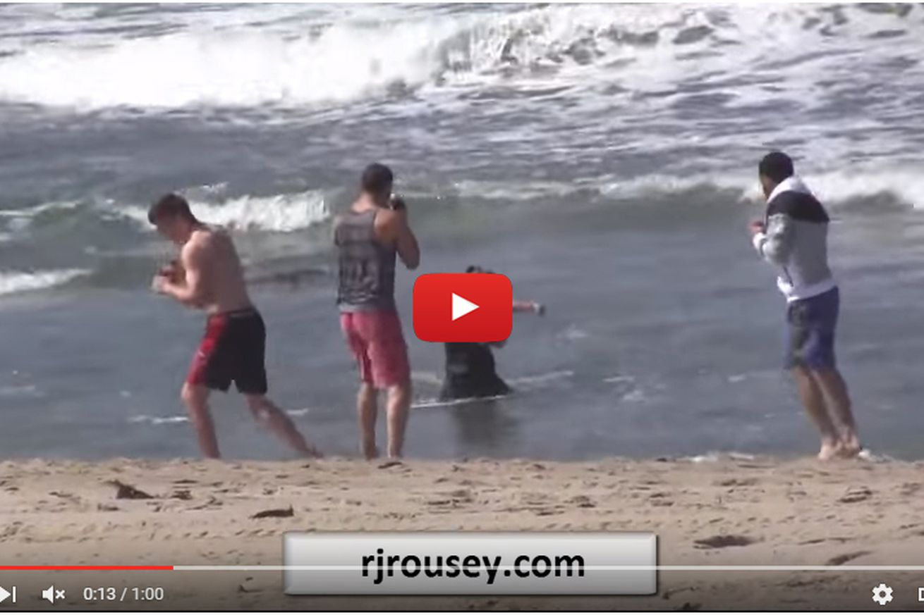 community news, Creeper posts beach video of Ronda Rousey fish boxing, working UFC comeback