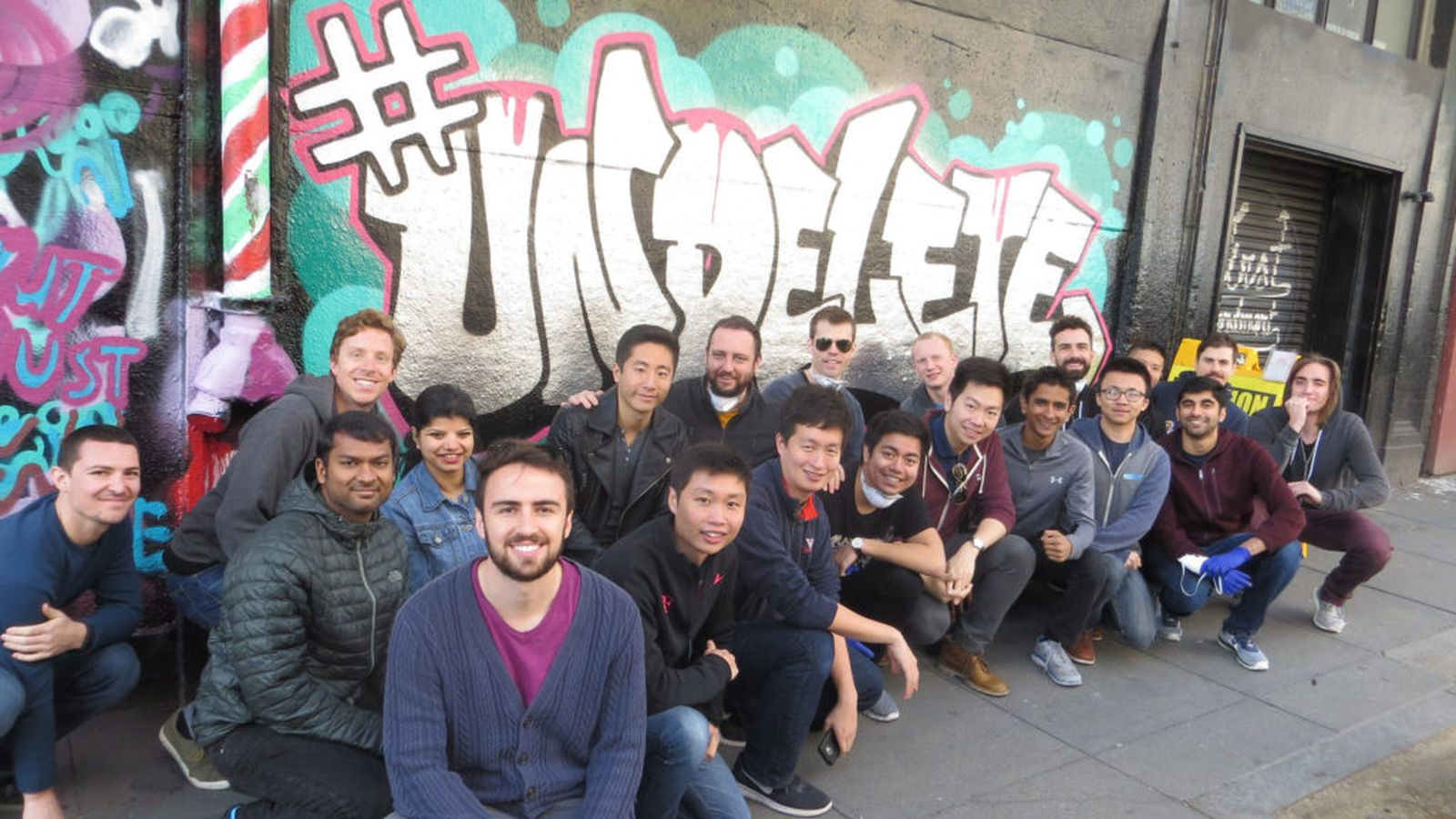 theverge.com - Uber employees spray-painted a wall with the word 'Undelete'