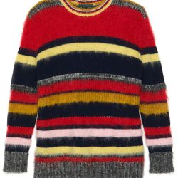 "<a href=""https://www.alexachung.com/row/stripy-mohair-jumper-multi-colour-38"">Stripy Mohair Jumper</a>, $590"
