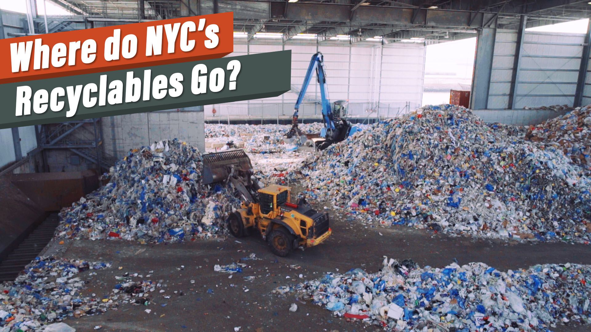 Tour a Brooklyn recycling facility, where NYC's trash gets a