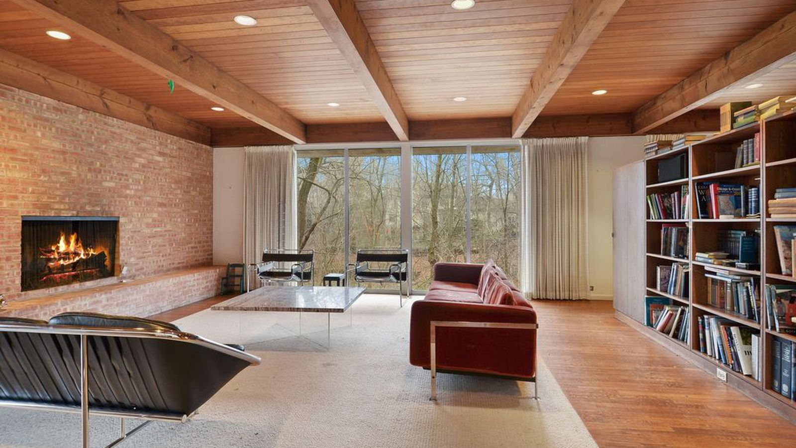 Ultimate midcentury fixer upper asks 1 3m just outside for Modern homes for sale chicago