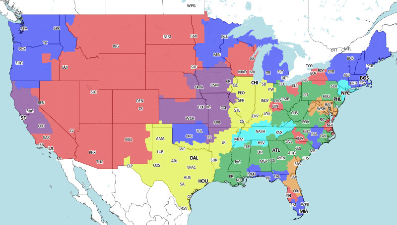 nfl coverage map nfl kickers