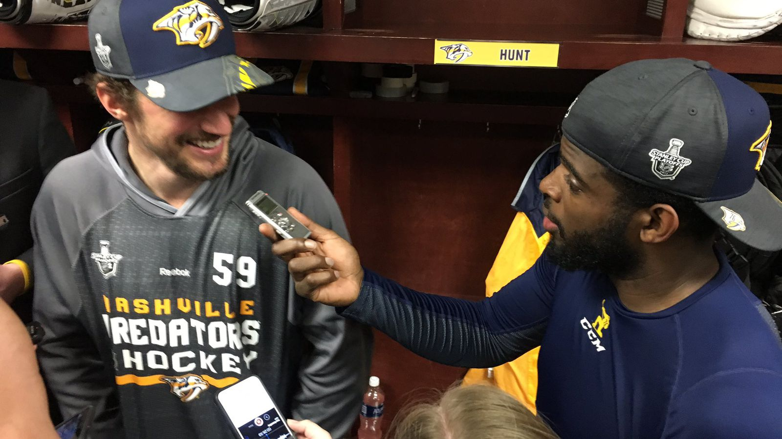 P.K. Subban tries and fails to interview Predators ...
