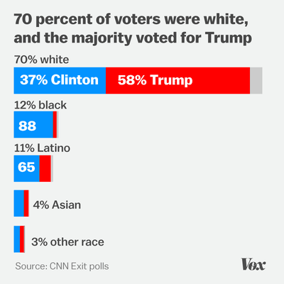 Image result for who voted for trump by race New York Times