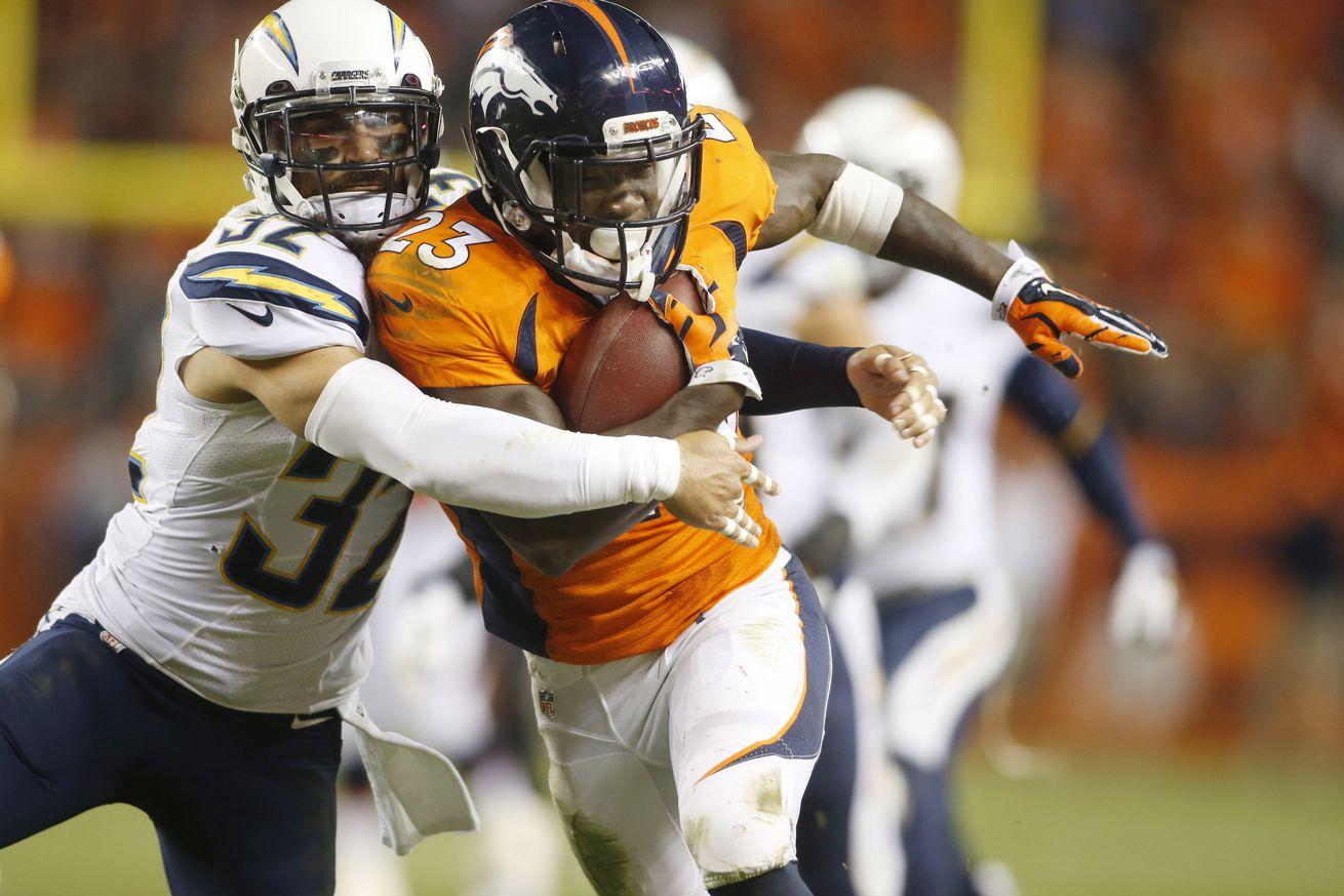Ronnie Hillman injury: Broncos running back suffers shoulder ...