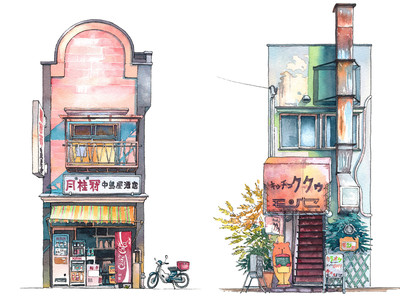 Tokyo?s old storefronts come alive in these gorgeous illustrations