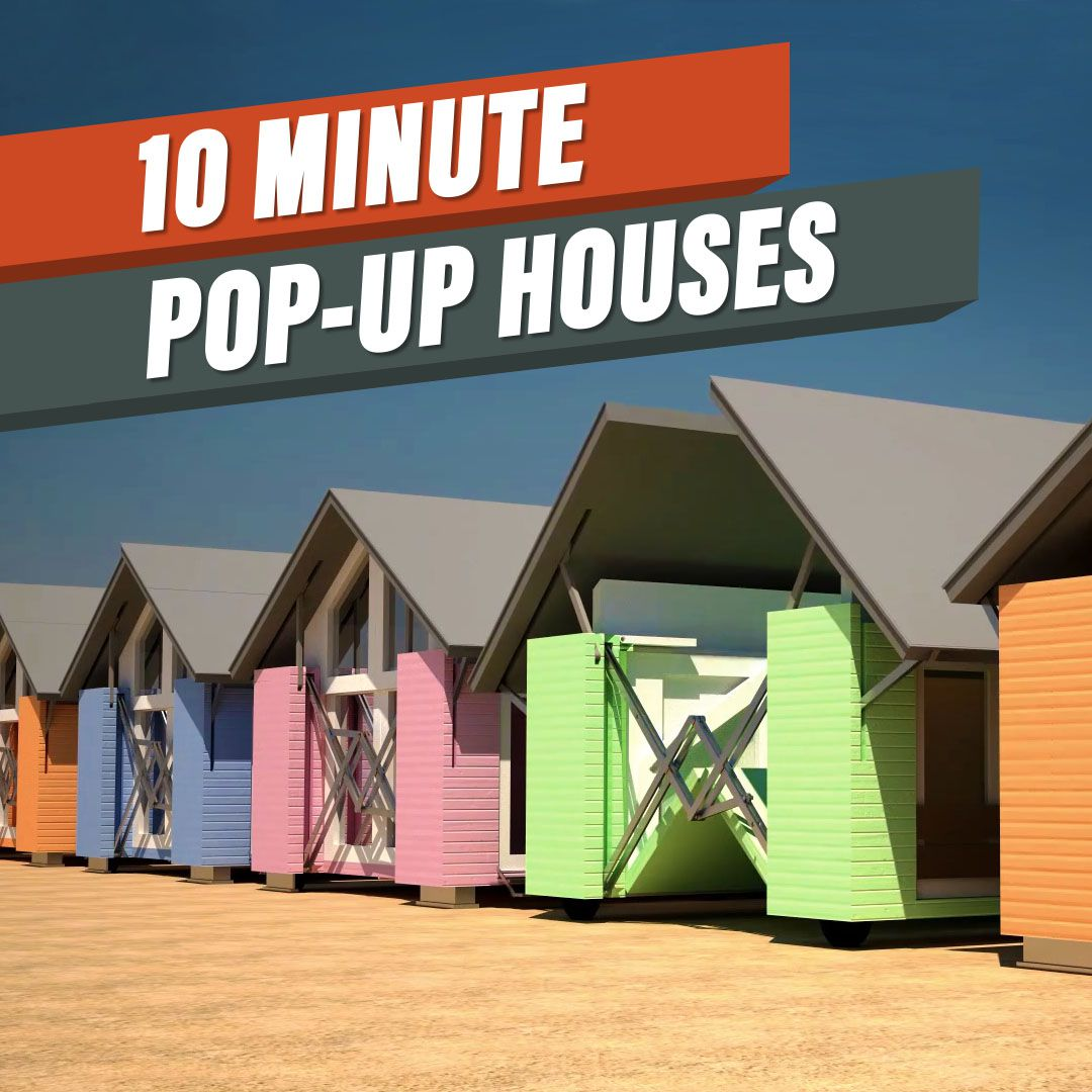 this mobile structure builds itself in under 10 minutes curbed