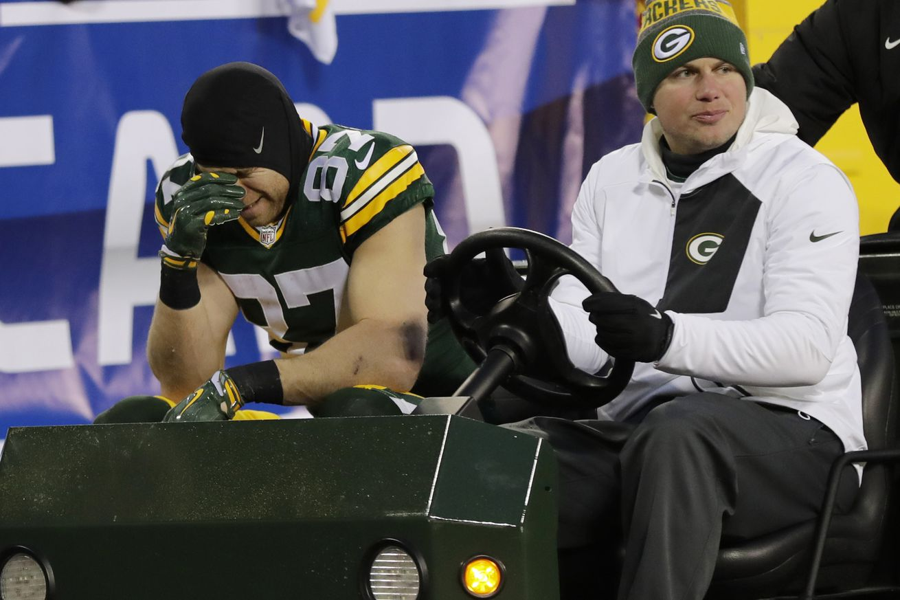 Cowboys vs. Packers: Jordy Nelson Spent Night In Hospital, Could Miss Game