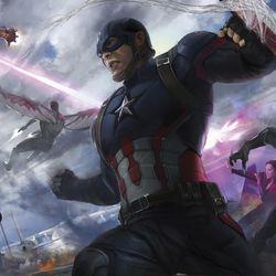 RODNEY FUENTEBELLA Splash panel with Spider-Man / Keyframe for Captain America: Civil War 2016<br> © 2017 MARVEL<br><br><br><br>